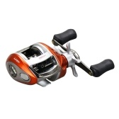 12+1 BB Ball Bearing 6.2:1 Bait Casting Fishing Reel One-way Clutch Baitcasting Reel Left/Right Hand Fishing Reel Magnetic Brake Lure Fishing Reel