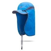 Protezione UV Cappello UPF 50+ Pesca Esterna Campeggio Escursionismo Arrampicata Giardinaggio Protezione solare con lembo staccabile per il collo