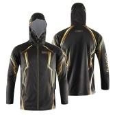 Bluséa Herren Kapuzen-Langarm-Angeln T-Shirt mit durchgehendem Reißverschluss Sonnenschutz Angeln Jersey Sport-Tops
