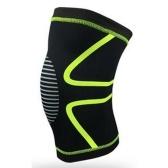 1PCS колено поддержки колено плечо Kneepad тренажерный зал вес подъема колени обертывания бандаж ремни гвардии сжатия сжатия колена брекет для артрита бежать боль помощи (зеленый размер XL)