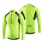 Jersey de ciclismo de manga larga para hombre Arsuxeo, ligero, transpirable, de secado rápido
