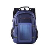Sac à dos de recharge pour énergie solaire avec port USB Sac de voyage respirant et imperméable Sacs à dos de grande capacité résistant à l'usure