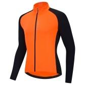 Jérsei de ciclismo masculino respirável com zíper completo de mangas compridas MTB para bicicleta Camiseta para ciclismo