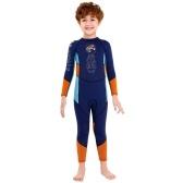 Гидрокостюм для мальчиков, купальник для дайвинга с длинными рукавами и защитной молнией, быстросохнущий цельный костюм для серфинга для водных видов спорта