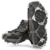 21 Dientes Crampones Mujeres Hombres Zapatos Antideslizantes Cubierta Acero Inoxidable Tacos Antideslizantes Para Hielo Agarres De Botas De Zapatos Tracción Picos De Nieve Dispositivo Para Esquí Al Aire Libre Hielo Nieve Senderismo