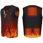 Colete aquecido Lixada USB Colete aquecedor elétrico Colete roupas aquecidas para homens e mulheres