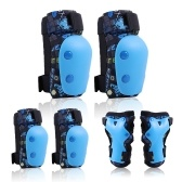 6 in 1 Kids Bike Pads Set Knee Pads Elbow Pads Wrist Guards Sport Protective Gear Set for Cycling Skateboard Roller Skating