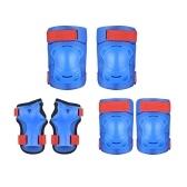 Набор наколенников 6 в 1 Защитный комплект Наколенники Налокотники Защита запястий Комплект защитного оборудования Защитные накладки для скейтборда Велоспорт
