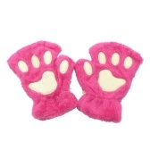 Women Super Lovely Bear Plush Cat Paw Claw Glove