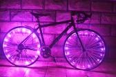 Recargables 20 LED resistente al agua para bicicleta Ciclismo llanta Luces rueda LED radio la luz 2 m de cuerda de alambre de la lámpara.