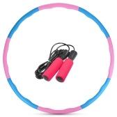 Набор скакалок с вращающимся обручем из 8 предметов для похудения, упражнений для похудения