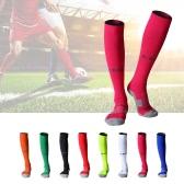 1 Par de antideslizante Plantilla de fútbol Calcetines de Rodilla Adulto altos calcetines largos Loom Calcetines transpirables Calcetines de fútbol deportes al aire libre calcetines calcetines de compresión