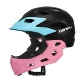 Kid Bike casco de cara completa desmontable Chin