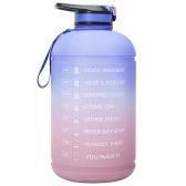 Garrafa de água de 1 galão com marcador de tempo BPA FREE 3.78L Garrafa esportiva com palha para academia de ginástica esportiva, acampamento, ciclismo