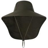 Cappello da sole unisex con cappuccio ampio da pesca