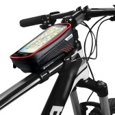 Bike Phone Bags with Touch Screen Phone Holder Case Waterproof Bicycle Front Frame Top Tube Mount Handlebar Bags Bike Storage Bag Cycling Pack
