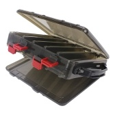 10 Compartments Double Sided Plastic Fishing Bait Box