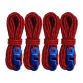 ShineTrip Thick Tent Wind Rope Outdoor Camping Canopy Reflective Wind Rope 3mm Multifunctional Wind Rope Buckle Tent 4pcs Multifunction Tent Rope Tent Accessories