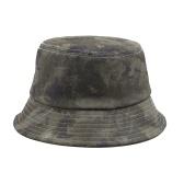 Sombrero de pescador de ala ancha plegable ajustable de camuflaje para viajes en la playa