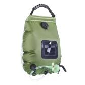 Портативная сумка для воды для кемпинга для душа, 20 л, емкость для солнечного тепла, походная сумка для купания