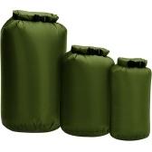3 шт. Водонепроницаемый сухой мешок с рулонным верхом сухой мешок для каякинга, катания на лодке, рыбалки, плавания