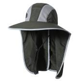 Sonnenhut mit breiter Krempe und Halsklappe Männer UV-Schutz Sonnenhut für Camping Wandern Angeln