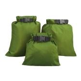 3pcs wasserdichtes Taschen-Set Aufbewahrungs-Trockensack-Set für Skating Camping Bootfahren Segeln Surfen Angeln