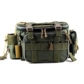 Fishing Tackle Bag Fishing Gear Storage Bag Organizer Waist Bag Messenger Bag Handbag