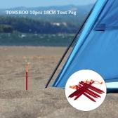 """TOMSHOO 10pcs / lot de 18 cm / 7 """"V-tienda de la forma de Peg camping estaca de la tienda ultraligera con la cuerda al aire libre reflectante tienda que viaja Accesorios de construcción"""