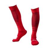 1 Paar Breath Wicking Verschleißfeste Knee High-Fußball-Fußball-Socken Compression Gestreifte Socken Baumwollsocken
