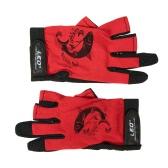 1 пара 3 Fingerless рыбалки Перчатки дышащий быстрое высыхание Противоскользящие перчатки Рыбалка Спорт на открытом воздухе Велоспорт Отдых на природе Бег