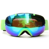 ウィンタースキーゴーグルUV400保護デュアルレンズスノーボードゴーグル球面スノースケーティングスキースポーツゴーグル取り外し可能なレンズゴーグル