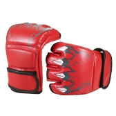 1 Pair Boxing Gloves Grapple Gloves Striking Sparring Gloves  Half Mitts Fist Protector Taekwondo Muay Punching Bag Boxing Gym Training Gear
