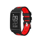 Ultra Thin Fitness Tracker Saúde Sleep Activity Tracker Sport Watch Wristband com pressão arterial Monitor de frequência cardíaca Wireless Smart Bracelet Outdoor Running Walking para iPhone / Android IP67 à prova d'água