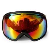 Зимние лыжи Goggle UV400 Защита Двойные линзы Сноуборд-очки OTG Сферические противотуманки Снегоходы Катание на лыжах Спорт Goggle Съемный объектив Goggle
