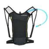 Mochila de hidratación 5L con vejiga 2L Mochila de hombro transpirable resistente al agua para bicicleta Ideal para deportes al aire libre de correr Excursiones Camping Ciclismo Esquí
