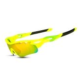 Radfahren Gläser Männer Frauen Polarisierte Fahrrad UV400 Brillen Fahrradbrille Outdoor Sports Fahrrad Sonnenbrille Schutzbrillen 5 Wechselgläser für Reiten Fahren Angeln Laufen