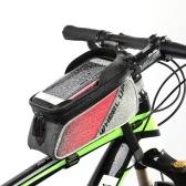 """Radfahren Fahrrad Bike Vorderrohr Top Tube Smartphone Bag Fahrradrahmen Pannier Pack Tasche 6.2 """"Handyhalter"""