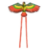 Colorful Cartoon Parrot Kite Outdoor Sport Linea singola Flying Kite con coda 50m Flying Line per bambini Adulti