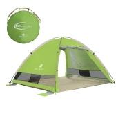 Automatique Instantanée Pop Up Tente de plage Léger En Plein Air Protection UVTente Hydrofuge Tente De Camping Cabana Abri Soleil 3-4 Personnes