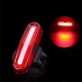 Luz trasera recargable de bicicleta USB Luz trasera LED de ciclismo impermeable rojo