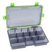 11 Compartments Waterproof Fishing Tackle Box Fishing Lure Spoon Hook Bait Storage Case Utility Box