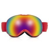 Occhiali da sci con lenti doppie antinebbia sferiche
