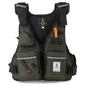 Multi-Pockets Fly Fishing Jacket Auftriebsweste mit Wasserflaschenhalter zum Kajakfahren Segeln Boot Wassersport