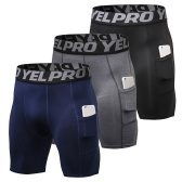 Shorts de compressão para homens de 3 blocos