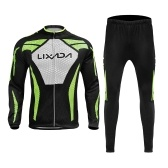Ensemble de maillot de cyclisme Lixada pour hommes, hiver