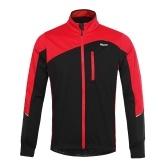 Homens jaqueta de ciclismo manga longa respirável à prova de vento
