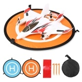 Portable Foldable Drone Landing Pad Lightweight Collapsible Reflective/Luminous Landing Pad for Drone