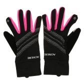 ハイキングオートバイフルフィンガータッチスクリーン手袋を実行AONIJIEアウトドアスポーツメンズレディース手袋暖かい防風サイクリング