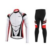 Conjunto de roupas de ciclismo de lã térmica para homem Lixada